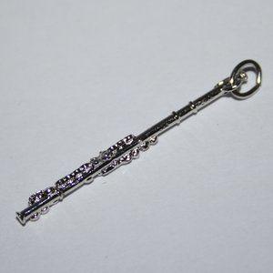 Sterling silver vintage Flute charm